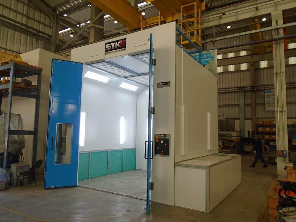 cabine de pintura industrial thyssenkrupp