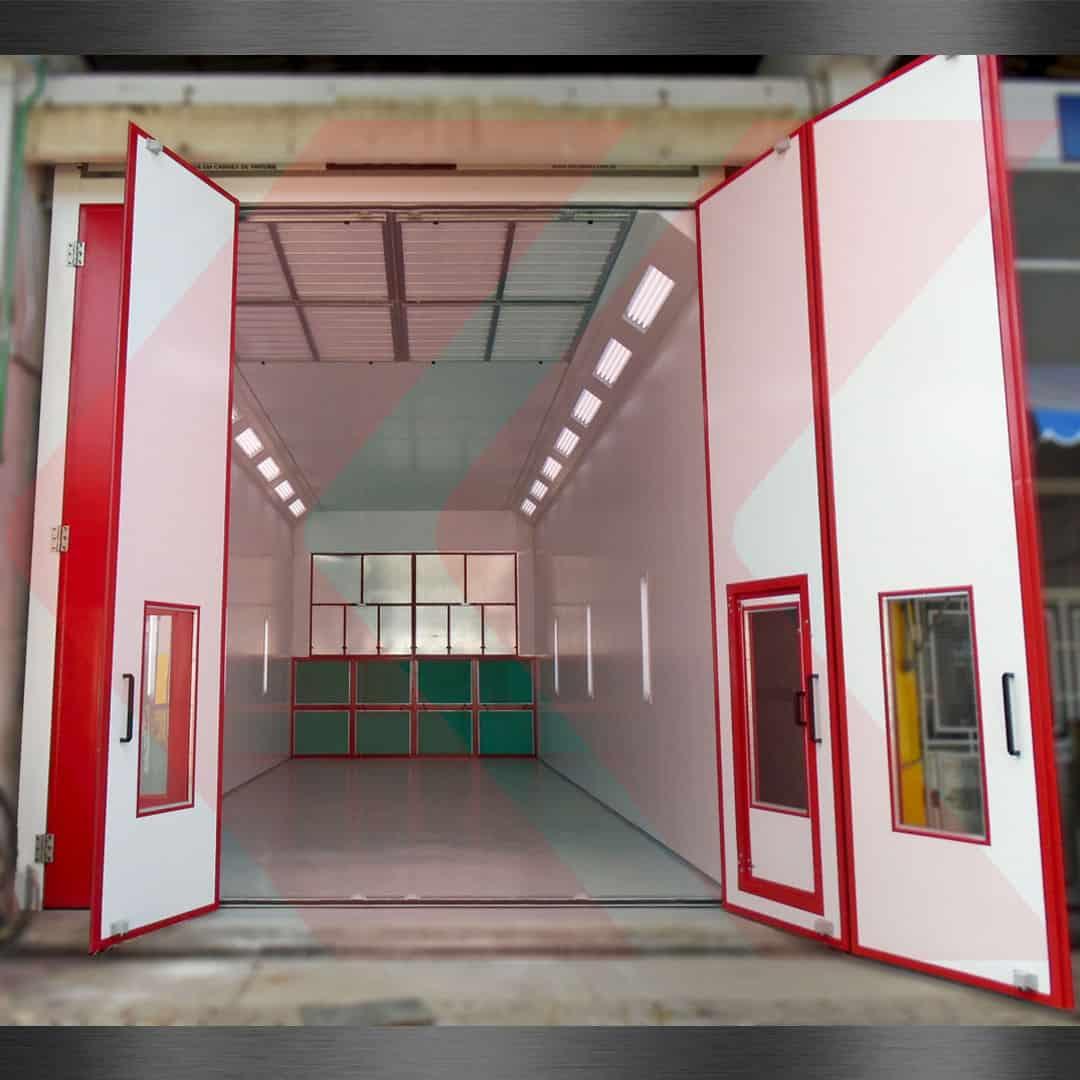 cabine de pintura para caminhões scania