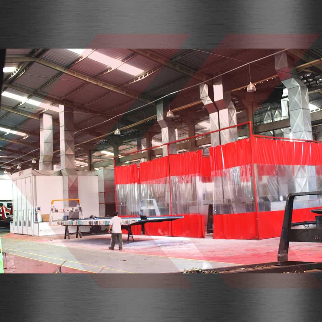 cabine de pintura para chassis