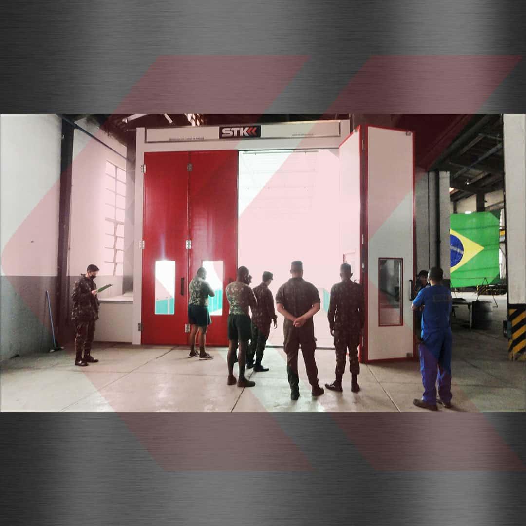 cabine de pintura para o exercito brasileiro