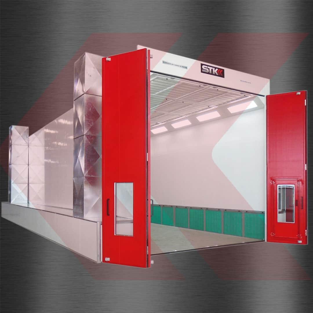 cabine de pintura para aeronaves