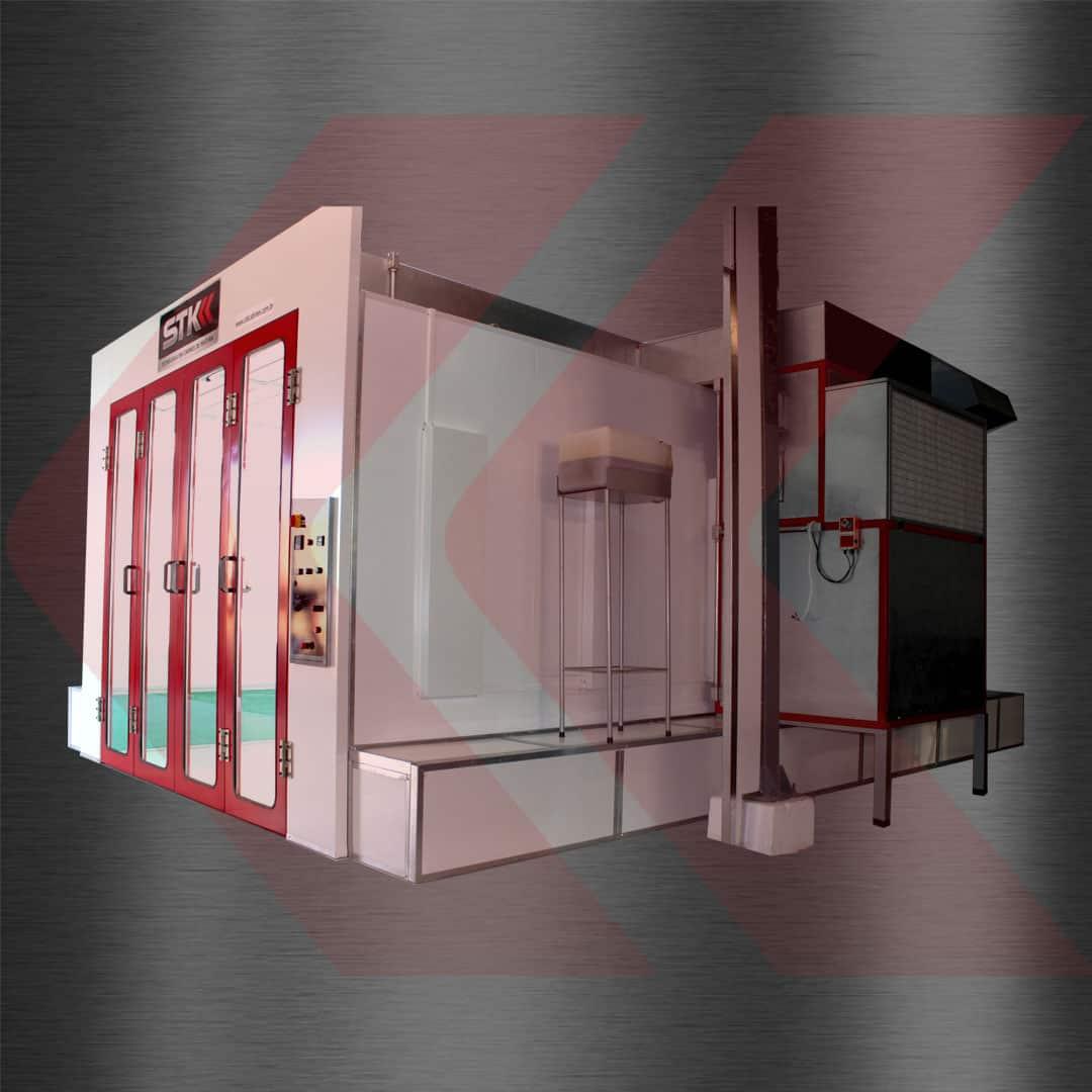 cabine de pintura para setor automotivo