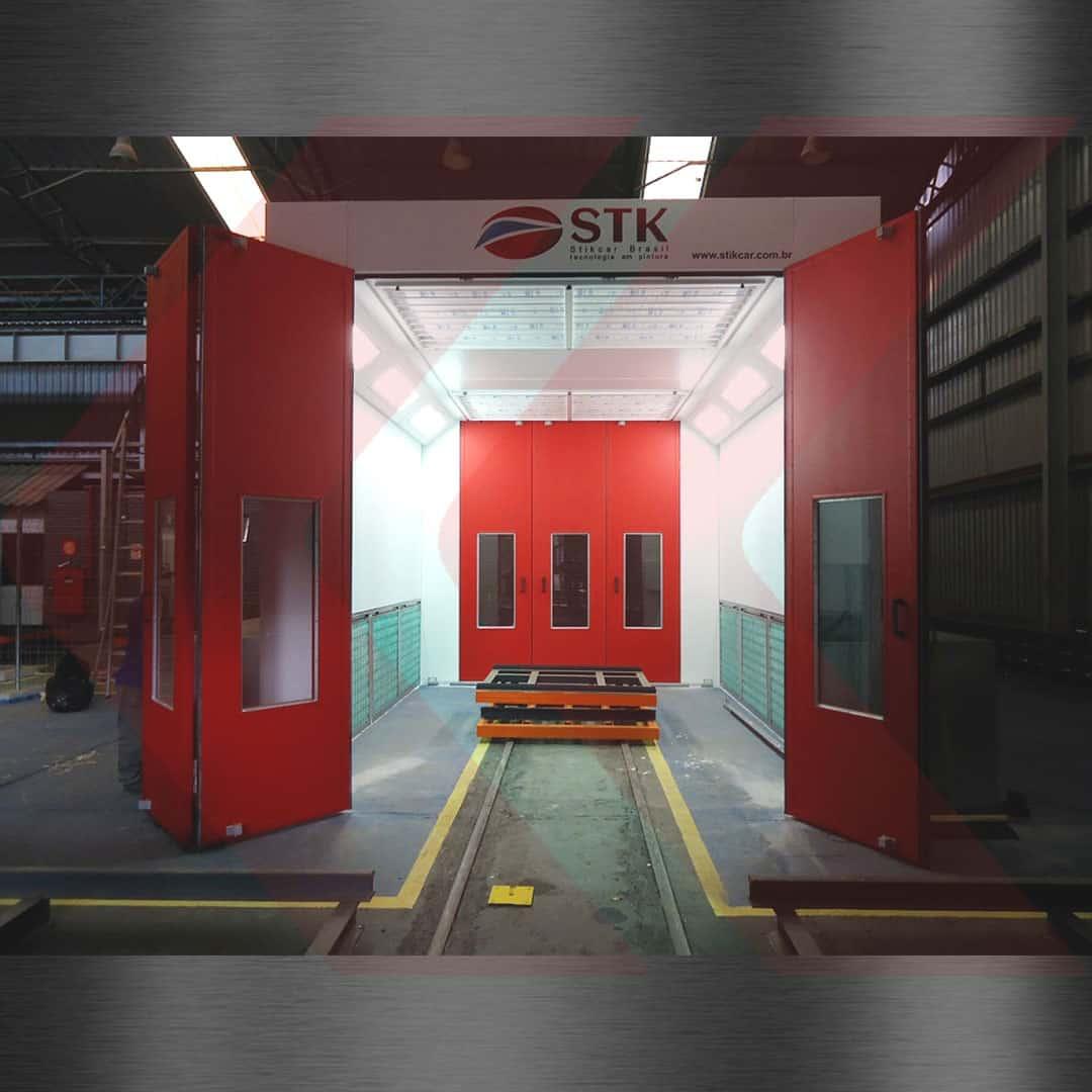 cabine de pintura industrial