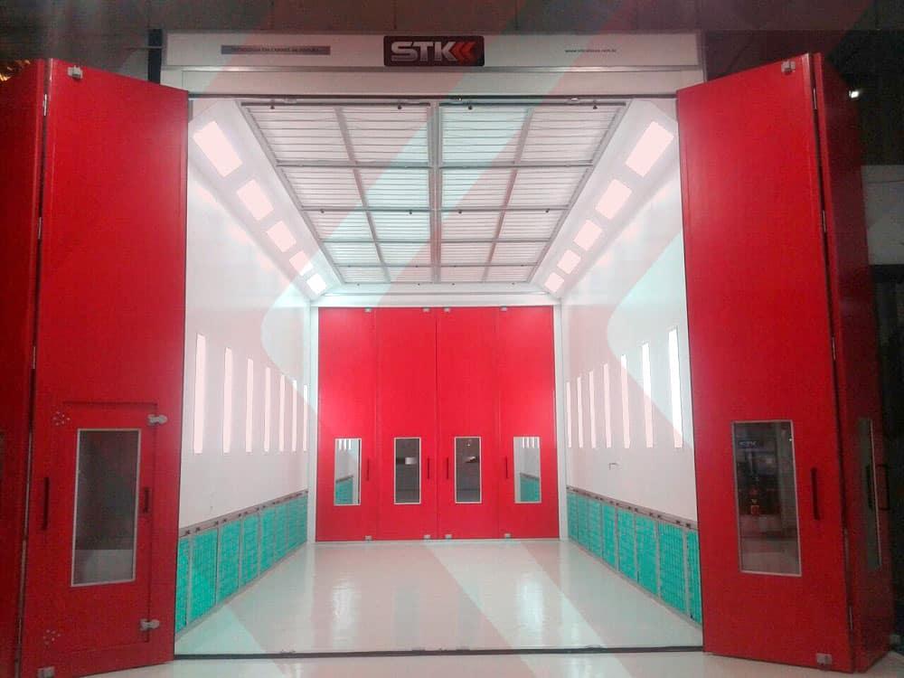cabine de pintura em linha