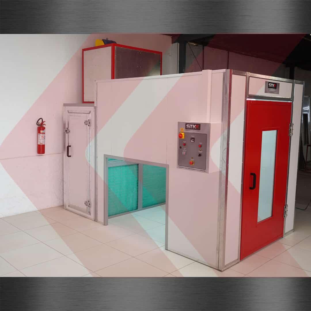 cabine de pintura pequena industrial